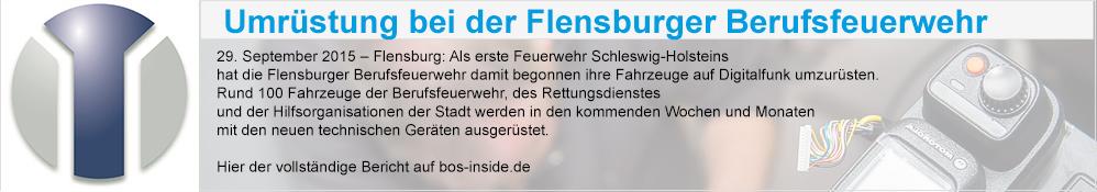 Umrüstung bei der Flensburger Berufsfeuerwehr
