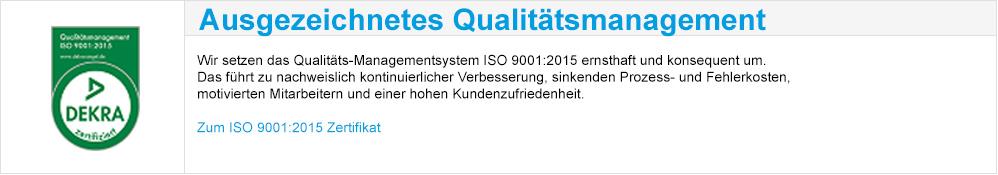 Ausgezeichnetes Qualitätsmanagement