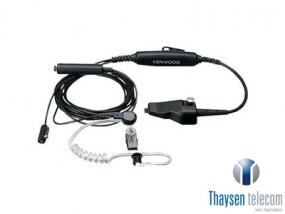 Kenwood KHS-12BL Tarnmikrofon mit Ohrhörer, PTT separat